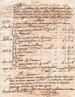 1759 - NAVARRENX (64) - Facture à MM. Les JURATS Et Communauté De BUGNEIN - Historische Documenten
