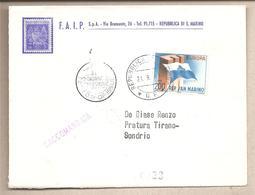 San Marino - Busta FDC Viaggiata Raccomandata Per L'Italia: Con Serie Completa: Europa - 1963 * G - Europa-CEPT
