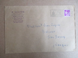 Enveloppe Avec Entête - R. Vautrin Inspecteur Général Des Eaux Et Forets - Cachet Musée De L'armée - Storia Postale