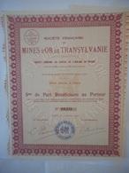 Francaise Des MINES D'OR De TRANSYLVANIE    1930      ROUMANIE - Actions & Titres