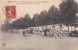 Montargis : Aéroplanes Militaires De Passage à Montargis Gardés Par Un Piquet Du 82 è De Ligne - Montargis