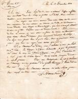 1820 - PAU - L.A.S. BARREAU Frères à MM. MOULOU & Cie, Négociants à BAYONNE - Bal De Ste Lucie - Historische Dokumente