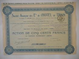 HOTEL De THAN        1930 CAEN Rue Des Allies NORMANDIE - Tourisme