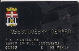 TARJETA FUTBOL CLUB CARTAGENA - Unclassified