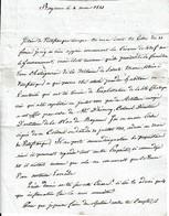 1823 - BAYONNE - L.A.S. Raymond Van Vosterom Au Sujet De L'exploitation D'une Châtaigneraie Par Des Artilleurs Envoyés - Historical Documents