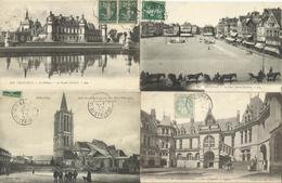 LOT DE 161 CARTES POSTALES ANCIENNES DE L'OISE (60). - France