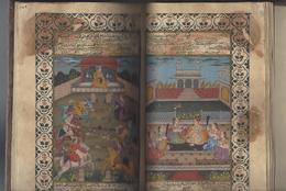MANUSCRIT 98 PAGES MANUSCRITES AVEC 10 MINIATURES BOOK ( PERSE IRAN OU INDE INDIA MINIATURE RAJASTHAN ? ) /FREE SHIP. R - Asian Art