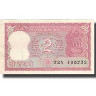 Billet, Inde, 2 Rupees, KM:67b, TTB+ - Inde