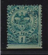 Colombia 1891, $1 Bird, Minr 114, Vfu - Colombia