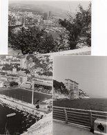 86Dm  Lot De 3 Photos Monaco En 1977 Institut Oceanographique, Stade Louis II, Vue Generale - Collections & Lots