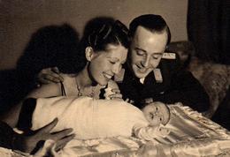 Photo Originale Guerre 1939-45 La Permission Allemande Pour L'arrivée Du Petit Un 04.10.1939 - Jolie Famille - Guerre, Militaire
