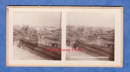 Photo Ancienne Stéréo - Port De CHERBOURG - Sous Marin Allemand - German Submarine WW1 Marine Bateau Canon Gun - Boats