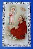 IMAGE RELIGIEUSE... SAINT ANTOINE DE PADOUE....HOLY CART ....SANTINI - Devotion Images