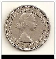 1957 - Grande Bretagne - Great Britain - ONE SHILLING, ELIZABETH II, Crowned English, KM 904 - 1902-1971 : Monnaies Post-Victoriennes