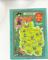 CARTE DEPARTEMENT EDITION CAP THEOJAC 48 LOZERE MALZIEU GRANDIEU MENDE CHANAL FLORAC LANGOGNE LA CANOURGE - Francia