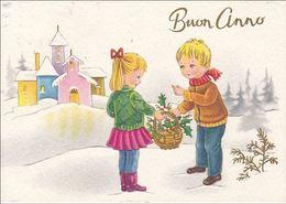 AUGURI - Buon Anno - Bonne Année - Happy New Year - Coppia Di Bambini - 1967 - Anno Nuovo