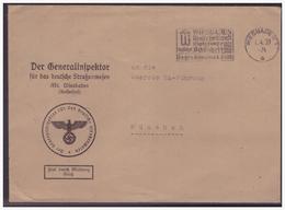 Dt- Reich (004115) Propaganda Brief Der Generalinspektor Für Das Strassenwesen An Die Oberste SA Führung München, Gelauf - Germany