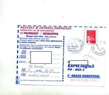 Carte Cachet Annexe Esprels GA - Marcophilie (Lettres)
