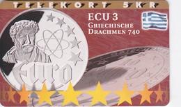 Denmark, P 190, ECU-Greece, Only 800 Issued, Coins, Flag, 2 Scans.   Please Read. - Denmark