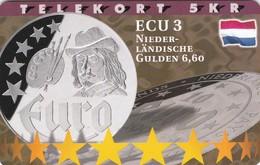 Denmark, P 200,  ECU-Netherlands,  Only 800 Issued, Coin, Flag, 2 Scans. - Denmark