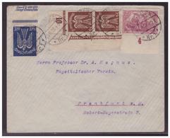 Dt- Reich Infla (004141) Brief Buntfrankatur Gelaufen Von Tübingen Nach Frankfurt Am 23.10.1922 - Germania