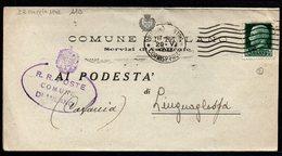 ITALY ITALIA 1942. Historical Documents Envelope Use By The Municipality Of MILANO LINGUAGLOSSA CATANIA - Documentos Históricos