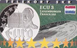 Denmark, P 215,  ECU-Luxemburg,  Mint, Only 800 Issued, Coin, Flag, 2 Scans. - Denmark