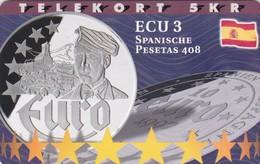 Denmark, P 216, Ecu - Spain, Mint, Only 800 Issued, 2 Scans. - Denmark