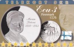 Denmark, P 250,  ECU-Finland,  Mint, Only 800 Issued, Coins, Flag, 2 Scans. - Denmark