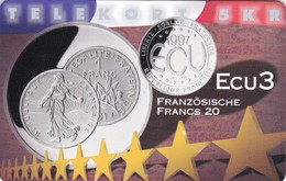 Denmark, P 256, Ecu - France, Mint, Only 800 Issued, 2 Scans.  Please Read - Denmark