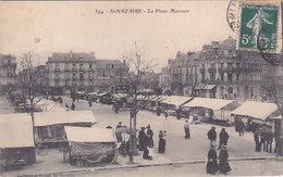 Saint Nazaire La Place Marceau Le Marché éditeur Morel N°594 - Saint Nazaire