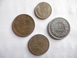 (A222)-FRANCE-LOT DE 4 PIECES DE 5 FRANCS 1933/35/45 ET 73 - France