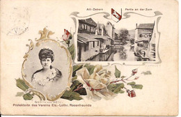 Saverne ROSEN AUSSTELLUNG ZABERN  OKT. 1911 Feldpostkarte Gräfin Von Wegel Lithographie 1100/d2 - Saverne