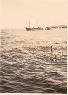 Foto Milos - Griechenland - Hafen Segelschiff Schwimmer - Ca. 1940 -  5,5*4cm (37541) - Orte