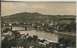 Linz V. 1955  Stadtansicht Mit Der Donau (2400) - Linz