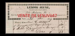 """PARIS  """" LENOIR JEUNE, MARCHAND D'ESTAMPES, 5, QUAI MALAQUAIS """", 1829. - 1800 – 1899"""