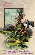 Pfingsten, Frosch Mit Großer Pfeife, Farb-Litho, 1903 - Pfingsten