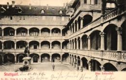 Stuttgart, Alter Schlosshof, 1904 - Stuttgart