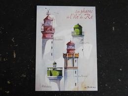 ILE DE RE - CHARENTE MARITIME - PHARE - CHAUVEAU LA FLOTTE RIVEDOUX LES BALEINES - Poitou-Charentes