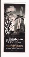 Etiquette Rhum  Très Vieux Rhum Habitation Bellevue -  Réserve Albert Godefroy - Marie Galante - GUADELOUPE - - Rhum