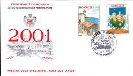 N° 2298 Et 2299 Europa 2001 L'eau - FDC