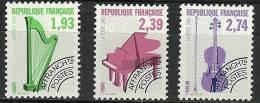 """FR Préo YT 210 à 212 """" Instruments De Musique """" 1990 Neuf** - Precancels"""