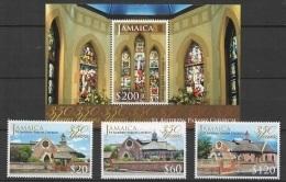 Jamaica (2014) - Set + Block -  /  Heritage - Church - Vitraux - Eglise - St. Andrew Parish - Stainglass - Kerken En Kathedralen