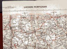 5080A   CARTE ROUTIERE  PERPIGNAN   1IERE EDITION  1939 1 200000IEME NON     ECRITE - Perpignan