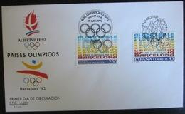 Enveloppe Emission Commune - Jeux Olympiques 1992 - Emissions Communes