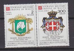 PGL - SMOM ORDRE DE MALTE AERIENNE SASSONE N°15/16 ** - Malte (Ordre De)