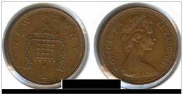 GRANDE BRETAGNE ( Royaume Uni ) One 1 Penny 1971 - 1971-… : Monnaies Décimales