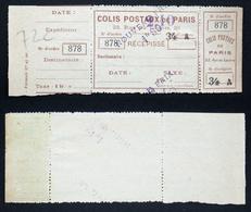 COLIS POSTAUX PARIS N° 109 Neuf N** TB Cote 185€ - Neufs