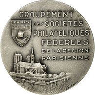 France, Médaille, Sociétés Philatéliques Fédérées De Paris, Contaux - France