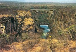 1 AK Zimbabwe * Victoria Falls Bridge über Dem Sambesi (Victoriafälle) - Die Brücke Verbindet Simbabwe + Sambia UNESCO - Zimbabwe